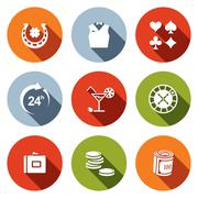 casino and luck icon set - stock illustration