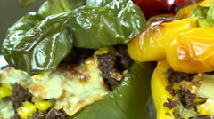 Stuffed peppers (seamless loopable) Stock Footage