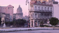 Cuba, La Habana, Havana, city view, streets, Capitolio Stock Footage
