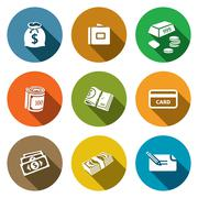 money icon collection - stock illustration