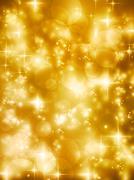 Stock Illustration of Golden Christmas tree 2011 card