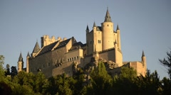 The castle Alcazar of Segovia, Spain Stock Footage