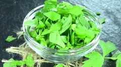Rotating lovage (not loopable) Stock Footage