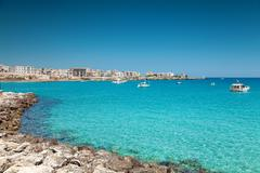 otranto town in puglia italy - stock photo