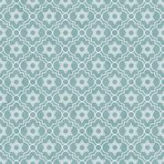 blue and white star of david repeat pattern background - stock illustration
