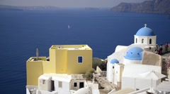 View of Santorini Island in Greece Stock Footage