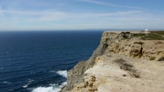 Cliff in Portugal Stock Footage