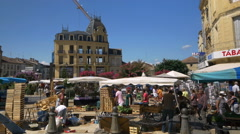 Farmers Market - Bergerac France Stock Footage