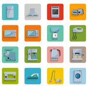 Set icons of home appliances Stock Illustration