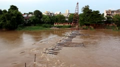 The river in Chiang Mai, Thailand.4 Stock Footage