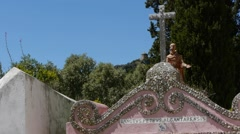Detail of a country church Stock Footage