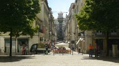 Elevador de Santa Justa in Lisbon Stock Footage