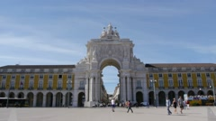Time lapse of the Praça do Comércio in Lisbon - stock footage