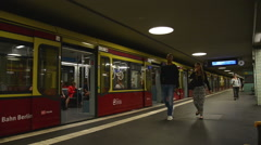 Berlin S-Bahn station Stock Footage