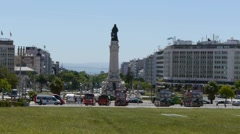 Traffic circle in Lisbon - stock footage