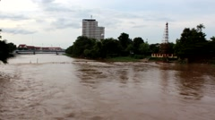 The river in Chiang Mai, Thailand.3 Stock Footage