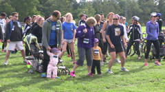 Annual Terry Fox run event Stock Footage