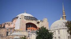 Hagia Sophia (Saint Sophia) in Istanbul, Turkey Stock Footage