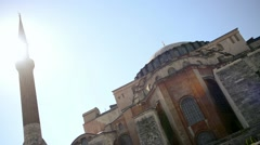 Hagia Sophia (Saint Sophia) in Istanbul, Turkey Stock Footage