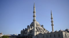 The New Mosque in Istanbul, Turkey Stock Footage