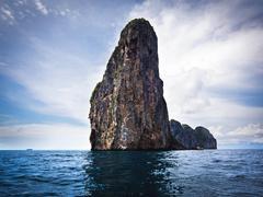 Karst Scenery in Ko Phi Phi, Krabi Province, Thailand - stock photo
