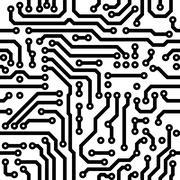 seamless vector texture - circuit board - stock illustration