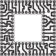 Vector electronic element - slot Stock Illustration