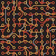 seamless texture - electronic elements on dark - stock illustration