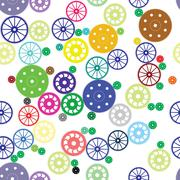 Seamless texture of color gears Stock Illustration