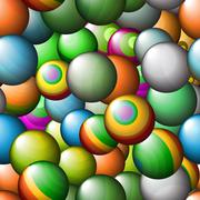 Seamless vector abstract texture - color balls Stock Illustration