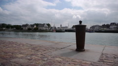 Harbor in Trouville, France Stock Footage