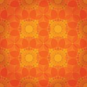 Orange abstract floral background Piirros