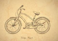 Vintage bicycle - vector in retro style Stock Illustration