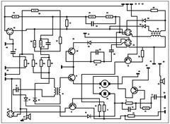 Electric scheme - vector background Stock Illustration