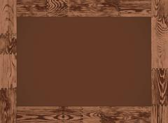 Vector horizontal frame - dark wood Stock Illustration