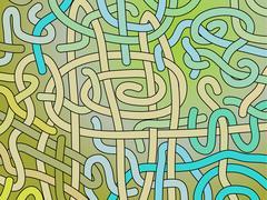 Abstract vector interlacing background Stock Illustration