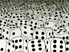 Stock Illustration of abstract gambling composition - dices