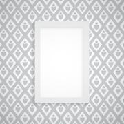 Vector simple blank frame on gray wallpaper Stock Illustration