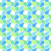 Vector seamless pattern - abstract blue & green pastel color wrapping Stock Illustration