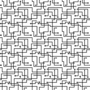 Vector seamless abstract pattern - circuit board scheme Stock Illustration