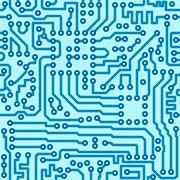 Electronic digital circuit board - seamless vector pattern Stock Illustration