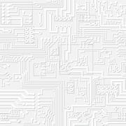 Vector light gray circuit board pattern Stock Illustration