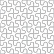 vector abstract seamless pattern - curved gray lines on white background - stock illustration