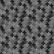 Vector pattern - seamless gray crosses texture Stock Illustration