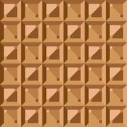 Vector seamless pattern - geometric vintage square texture. polygonal brown g Stock Illustration