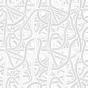 Continuous interlocking shapes like spaghetti. vector seamless gray pattern Stock Illustration