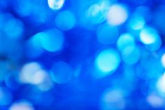 Blue defocused lights background Stock Photos