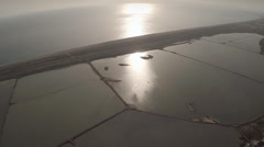 Aerial view of Cabo de Gata marshes. Spain. Stock Footage
