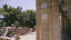 Cuba, La Habana, Havana, Plaza de Armas with used books fair Stock Footage