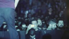 concert people crowd fans having a blast back stage view - stock footage